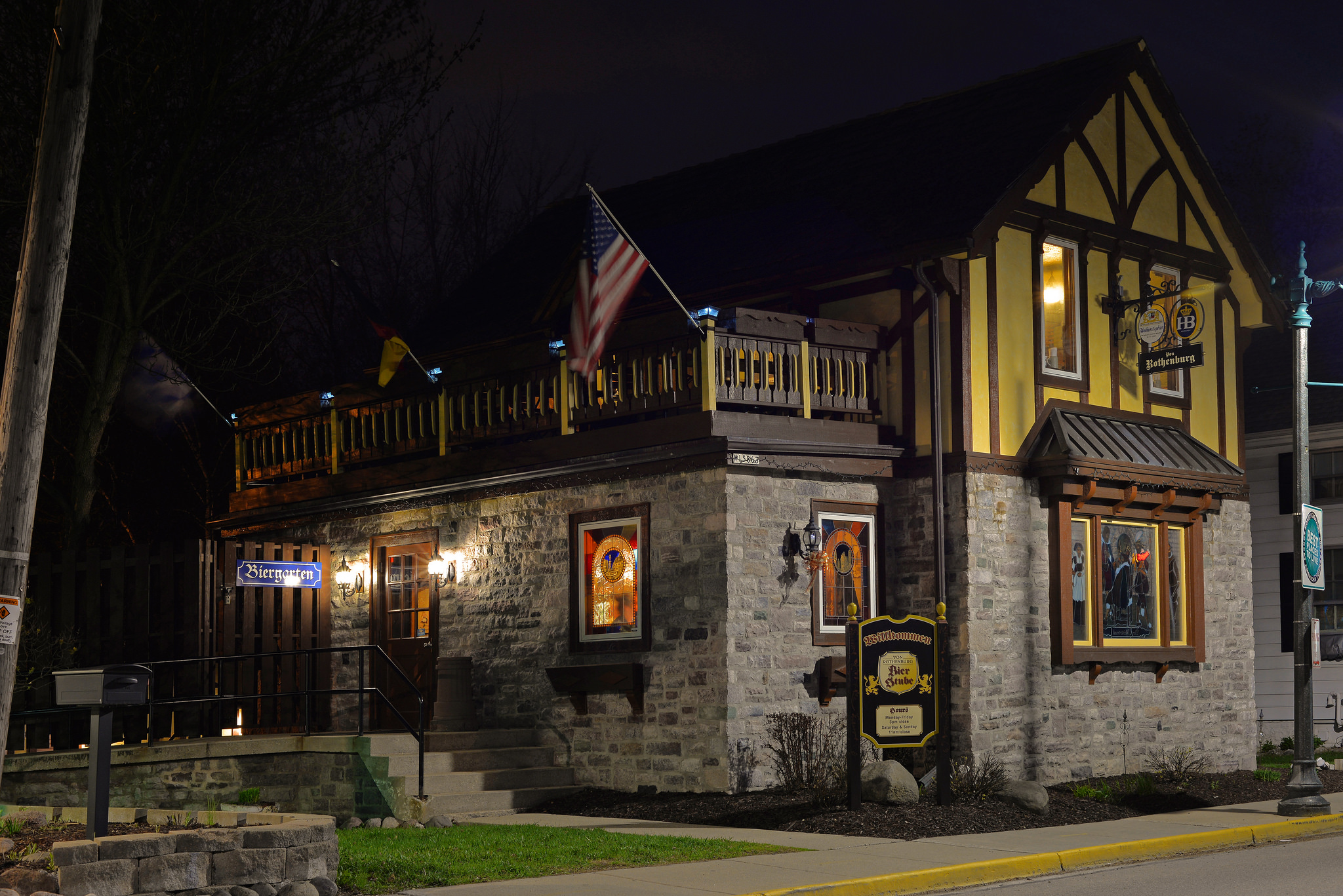 <table class=&quot;lightbox&quot;><tr><td colspan=2 class=&quot;lightbox-title&quot;>The Bier Stube</td></tr><tr><td colspan=2 class=&quot;lightbox-caption&quot;>The Von Rothenburg Bier Stube in Germantown features traditional German food, beer, and decor in its indoor beer hall and outdoor beer garden. </td></tr><tr><td colspan=2 class=&quot;lightbox-spacer&quot;></td></tr><tr class=&quot;lightbox-detail&quot;><td class=&quot;cell-title&quot;>Source: </td><td class=&quot;cell-value&quot;>From Flickr. Photograph by Jim Bauer. CC BY-ND 2.0.<br /><a href=&quot;https://www.flickr.com/photos/lens-cap/14146135042/&quot; target=&quot;_blank&quot;>Flickr</a></td></tr><tr class=&quot;filler-row&quot;><td colspan=2>&nbsp;</td></tr></table>