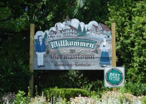 Germantown continues to promote its German heritage through local events and German language on its signage.