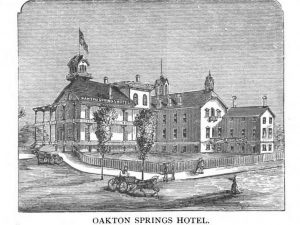 The Oakton Springs Hotel opened in 1873 and became a popular destination for vacationers who flocked to the village of Pewaukee and nearby Pewaukee Lake.