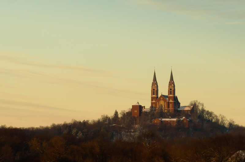 Holy Hill National Shrine of Mary, Help of Christians is a minor Roman Catholic basilica located in Washington County. It attracts thousands of religious and nonreligious visitors annually.
