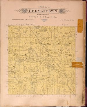 This 1915 plat map of Germantown shows major roads, who owned the land, and clusters of settlement.