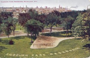 The Kilbourn Park Reservoir opened in 1873 and was designed to store and distribute water for drinking or fire protection. The reservoir was removed in 2007, and local vegetation was planted to prevent erosion and runoff.