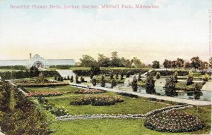 Prior to its razing in 1955, the Mitchell Park Conservatory featured large sunken gardens through which visitors could walk.