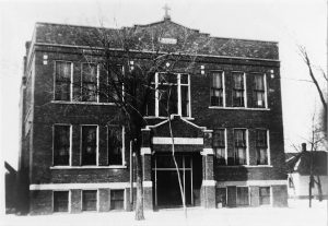 One of the many Catholic institutions in St. Francis, this school served the children of the Sacred Heart Church. While the school is now closed, the parish is still active.