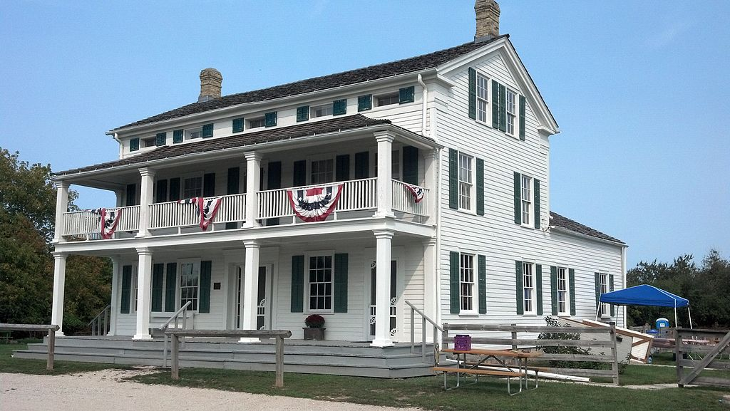 Built in the early 1840s as a stagecoach inn, the Dousman Inn in the town of Brookfield sits at the intersection of the historic Blue Mound Road and Watertown Plank Road. It is listed on the National Register of Historic Places.