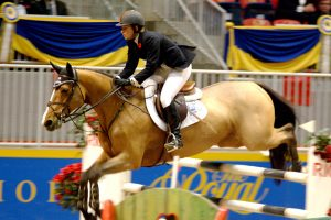 Milwaukee-born Beezie Madden helped the U.S. Equestrian Team win gold at the 2004 Olympics. She is pictured here competing at the Canadian Royal Winter Fair in 2006.