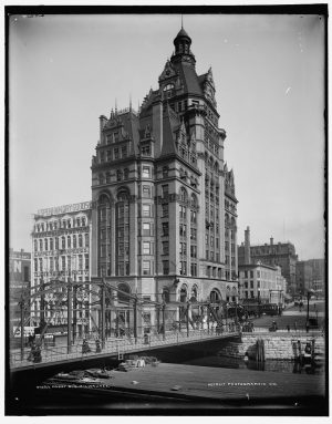 Milwaukee's ornate Pabst Building, completed in 1891, was the city's first skyscraper and, for a time, its tallest structure. It was razed in 1981.