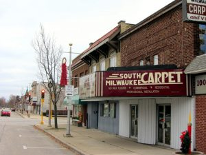This 2011 photograph provides a look down one of South Milwaukee's streets during the holiday season.