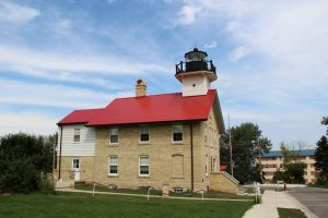 The historic Port Washington light station was built in 1860 and is listed on the National Register of Historic Places. It currently hosts a local museum.