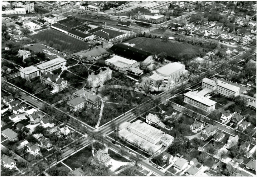 <table class=&quot;lightbox&quot;><tr><td colspan=2 class=&quot;lightbox-title&quot;>Aerial View of Carroll University</td></tr><tr><td colspan=2 class=&quot;lightbox-caption&quot;>This photograph provides a view of Carroll University as it looked from the southeast in 1967, when it was still known as Carroll College.</td></tr><tr><td colspan=2 class=&quot;lightbox-spacer&quot;></td></tr><tr class=&quot;lightbox-detail&quot;><td class=&quot;cell-title&quot;>Source: </td><td class=&quot;cell-value&quot;>From the Carroll Photograph Collection. Carroll University Archives. Reprinted with permission.</td></tr><tr class=&quot;filler-row&quot;><td colspan=2>&nbsp;</td></tr></table>