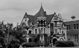 The Elizabeth Plankinton mansion, built in 1886, was one of several ornate homes that once line Grand Avenue. It is pictured here in 1979, the year before it was demolished.