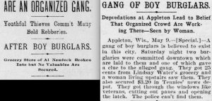 Newspapers in 1899 and 1904 reveal the long history of gangs across the the region and the state.
