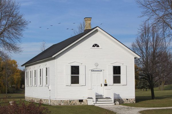 The Little White Schoolhouse in Brown Deer is the only remaining intact one-room schoolhouse in Milwaukee County. Built in 1884, it is now managed by the Brown Deer Historical Society and hosts a local history museum.