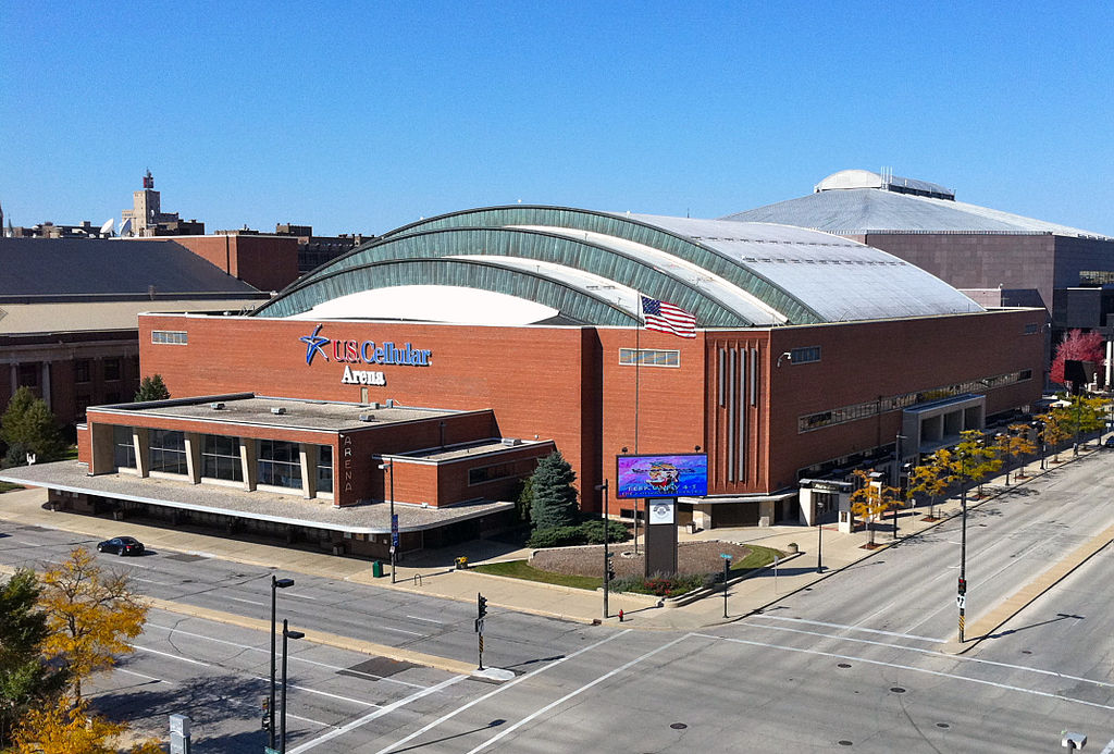 From 2000 to 2014, the UW-Milwaukee Panther Arena was known as the U.S. Cellular Arena, as illustrated in this 2010 photo.