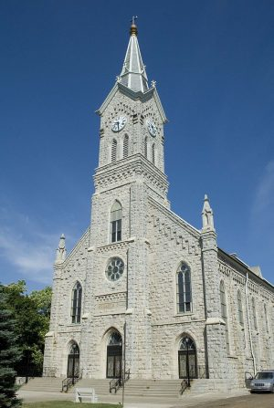 While located within the city of Port Washington, St. Mary's Catholic Church is constructed primarily of stone from the Druecker Stone Quarry, founded in the town in 1873.