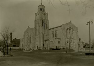 The congregation of the Saint Sebastian Catholic Church was founded in 1911. Its current building, pictured here, was completed in 1930 and remains a notable neighborhood landmark.