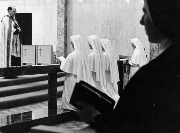 The School Sisters of Notre Dame established a convent in Elm Grove in 1855. The members of the order pictured here in 1966 are preparing for a trip to Paraguay.