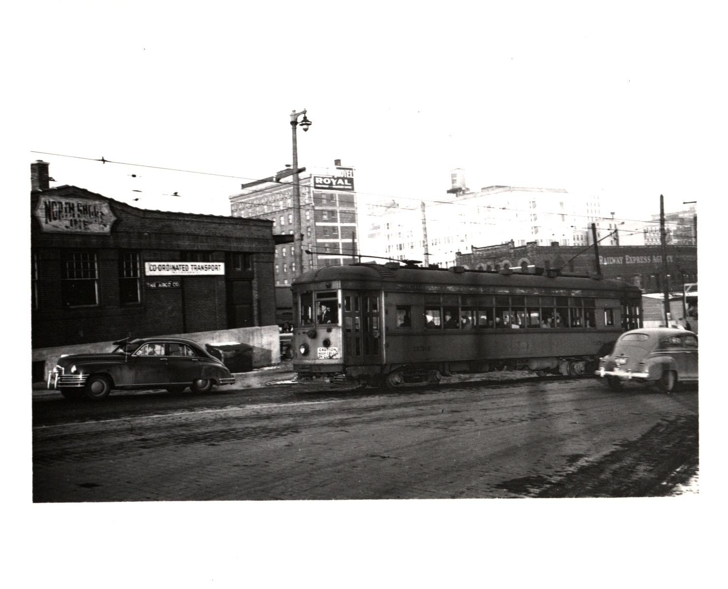 <table class=&quot;lightbox&quot;><tr><td colspan=2 class=&quot;lightbox-title&quot;>North Shore Interurban Line</td></tr><tr><td colspan=2 class=&quot;lightbox-caption&quot;>An interurban streetcar full of passengers rolls along near the old Milwaukee Road Union Depot once located at N. 6th and W. Clybourn Streets. </td></tr><tr><td colspan=2 class=&quot;lightbox-spacer&quot;></td></tr><tr class=&quot;lightbox-detail&quot;><td class=&quot;cell-title&quot;>Source: </td><td class=&quot;cell-value&quot;>From the Robert W. Eichelberg Papers. Archives, University of Wisconsin-Milwaukee Libraries.<br /><a href=&quot;http://digicoll.library.wisc.edu/cgi/f/findaid/findaid-idx?c=wiarchives;view=reslist;subview=standard;didno=uw-mil-uwmmss0228;focusrgn=contentslist;cc=wiarchives;byte=47554507&quot; target=&quot;_blank&quot;>University of Wisconsin-Milwaukee Libraries</a></td></tr><tr class=&quot;filler-row&quot;><td colspan=2>&nbsp;</td></tr></table>