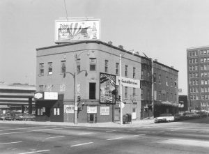 The River Queen was one of the first openly gay bars in Milwaukee, located in the old Juneau Building pictured here. The mural of boat on the side of the building indicates that the River Queen is housed inside.