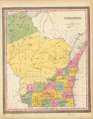 This map of Wisconsin from 1846, two years before it became a state, illustrates how large some counties originally were. Note the absence of Ozaukee, Waukesha, and Kenosha counties.