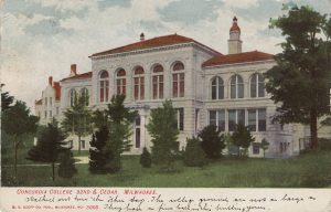 Before Concordia University moved to Mequon, it was known in Milwaukee as Concordia College. It's pictured here on a postcard from 1901.