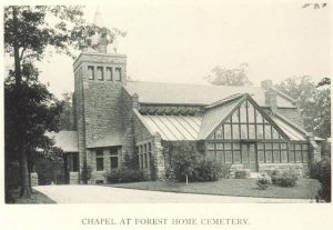 The Forest Home Cemetery is a vast cemetery in the Layton Park neighborhood in which many prominent Milwaukee citizens are buried.