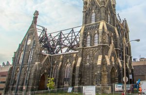 Following a devastating fire in May 2018, work began to rebuild the historic Trinity Evangelical Lutheran Church.