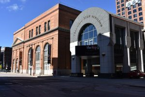 The Milwaukee Repertory Theater's current home is located in a former Milwaukee Electric Railway & Light Company building on E. Wells Street.