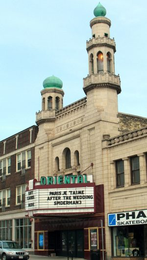 First opened in 1927, the Oriental Theater in Milwaukee continues to show films and offer patrons a unique movie experience.