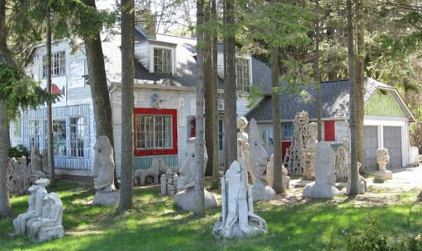 Mary Nohl's home in Fox Point, with its collection of original sculptures, is now listed on the National Register of Historic Places.