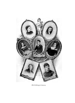Women were also part of the Milwaukee Musical Society. A small group of such singers from the 1850s are illustrated here.