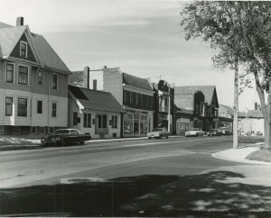 This 1969 photograph showcases a number of businesses along North Avenue in the Sherman Park neighborhood.