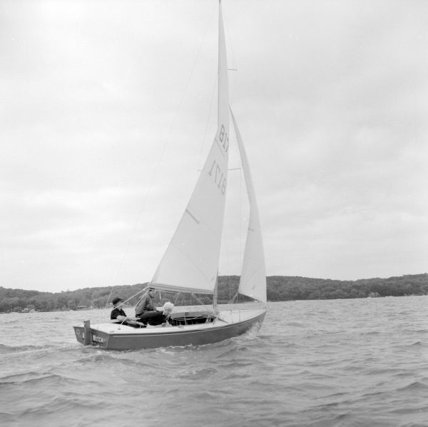 The many lakes in Walworth County spurred tourist development following the Civil War. Sailing on Lake Geneva, as pictured here, proved to be popular with vacationers.