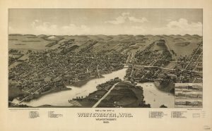 This 1885 map illustrates the city of Whitewater in Walworth County, now home to the University of Wisconsin-Whitewater.