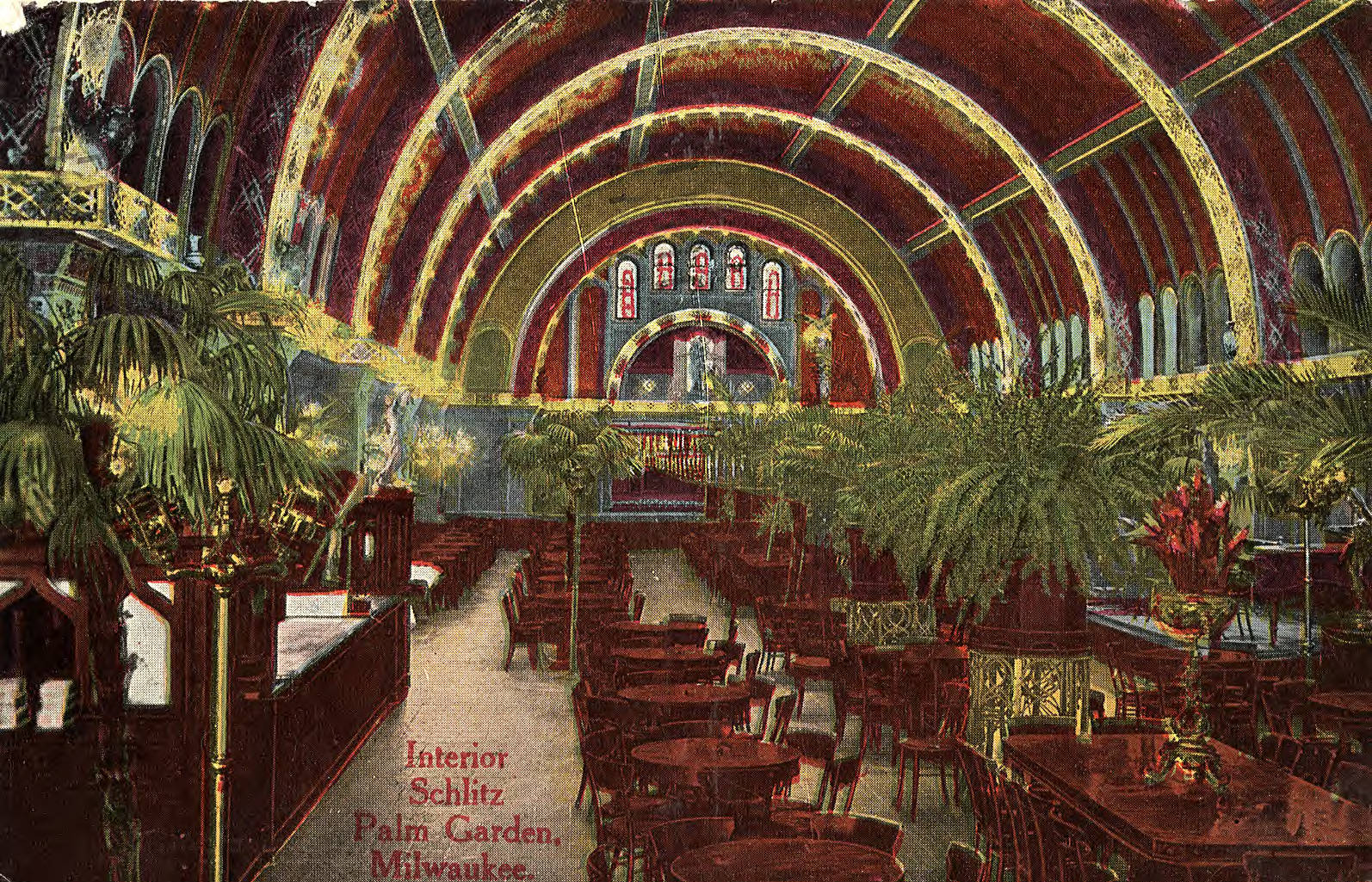 First opened in 1896, the Schlitz Palm Garden was Milwaukee's most famous beer hall.
