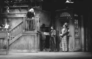 "The Milwaukee Repertory Theater performs Charles Dickens' ""A Christmas Carol"" annually. This photograph is from the company's 1979-1980 performance."
