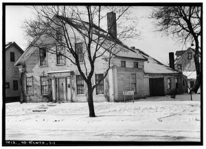 The Lowell Damon house was constructed between 1844 and 1846. Added to the National Register of Historic Places in 1972, it is currently owned and operated as a museum by the Milwaukee County Historical Society. It is pictured here in 1935 prior to its restoration.