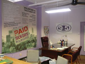 This 2009 photograph illustrates the interior of a 9to5 chapter office in Milwaukee.