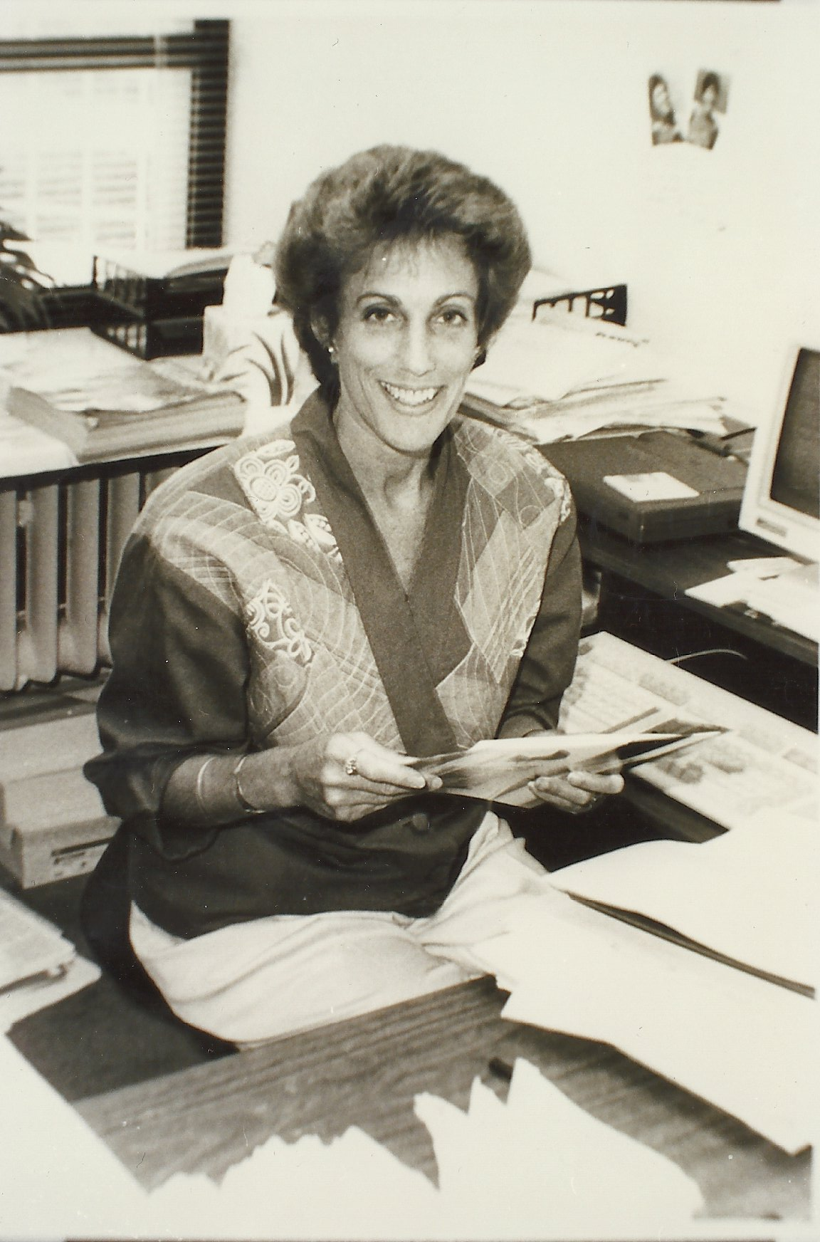 Ellen Bravo, pictured here, was a founding member of the Milwaukee chapter of 9to5 and became the national executive director in 1993.