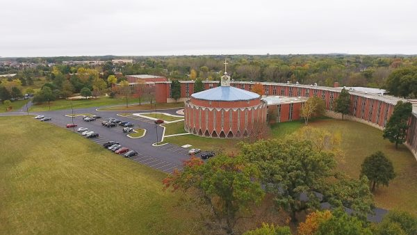 This aerial photograph provides a view of the Sacred Heart Seminary and School of Theology campus as it looks today.