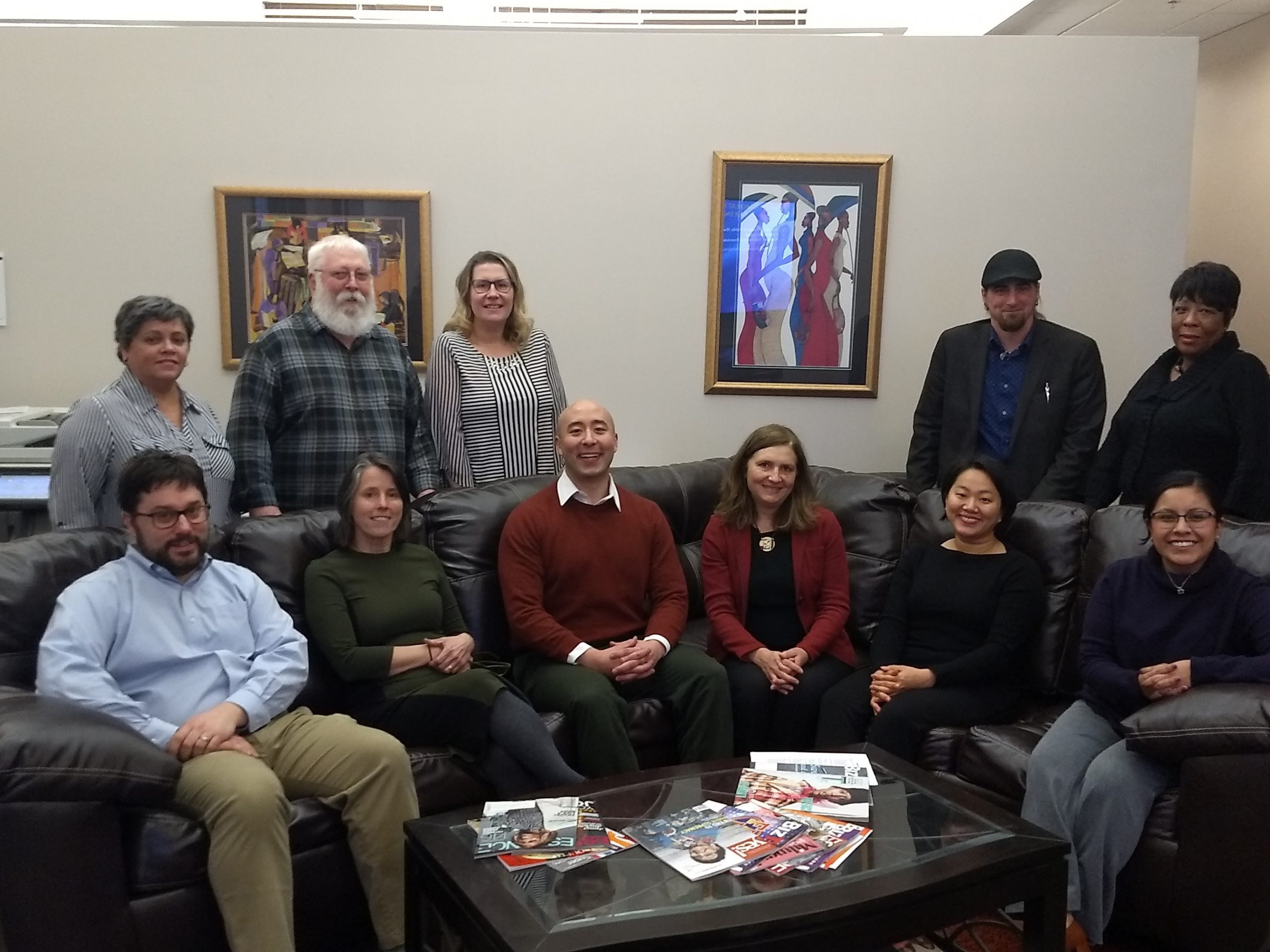 Pictured here are the members of the Legal Aid Society of Milwaukee's team at their downtown office as of 2019.