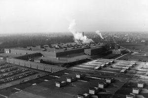 The Allis-Chalmers Supercharger plant in West Allis was completed in 1942 and staffed primarily by women throughout World War II.