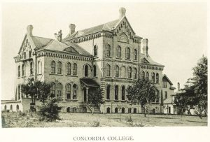 Concordia College was founded in 1881 and moved to its namesake neighborhood approximately two years later. The institution lives on today as the Concordia University Wisconsin, located in Mequon.