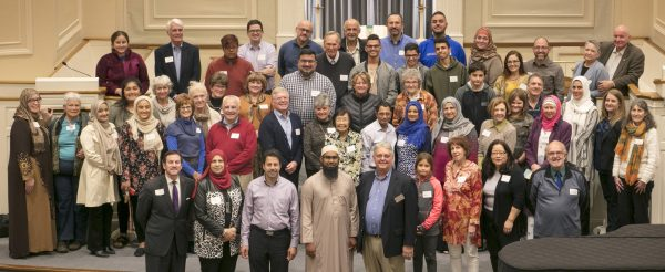 Members from a variety of congregations and faiths throughout the Milwaukee area gathered for an interfaith dinner at the First Congregational Church in Wauwatosa in October 2018.