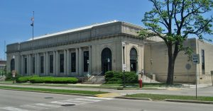 The former U.S. Post Office in Kenosha, pictured here, is one of six buildings that forms the city's Civic Center Historic District. The district is listed on the National Register of Historic Places.
