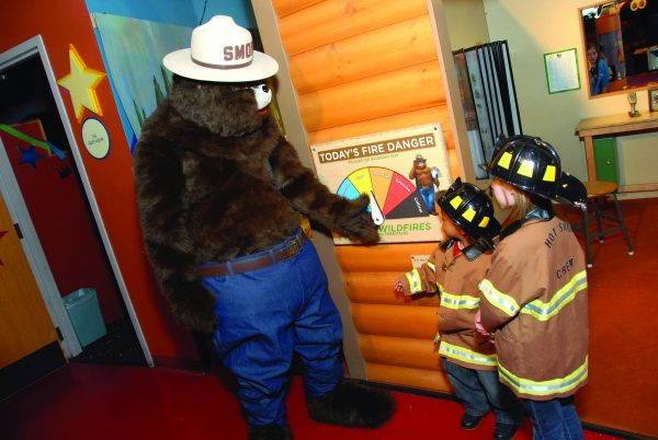 In 2009, the Betty Brinn Children's Museum partnered with the U.S. Forest Service to create a traveling exhibit to teach children about caring for their natural resources.