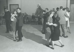 Pictured here in 1966, Goodwill Industries hosted a Christmas party for its handicapped employees.
