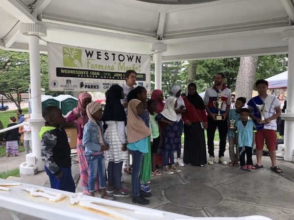 On June 20, 2018, the International Institute of Wisconsin sponsored a World Refugee Celebration at Zeidler Park to increase refugee awareness in Milwaukee and celebrate refugees' cultures.