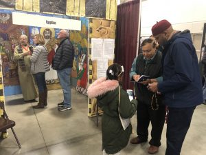 The Holiday Folk Fair features cultural displays from all around the world. This photo features a display on Egyptian culture.
