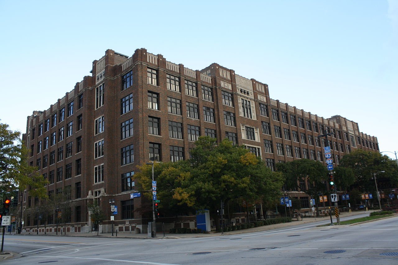 Milwaukee Area Technical College's first dedicated building opened in 1920. Pictured here in 2012, it still serves as the school's main campus and headquarters today.